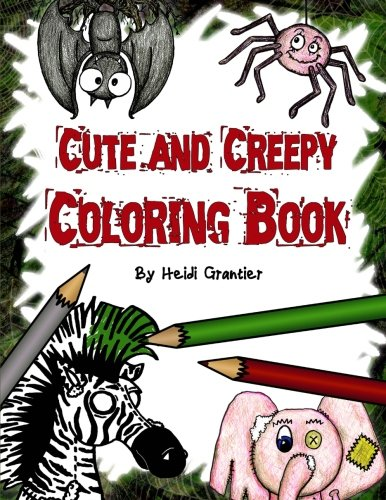 9781493682652: Cute and Creepy Coloring Book