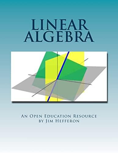 Linear Algebra: Jim Hefferon, Textbook