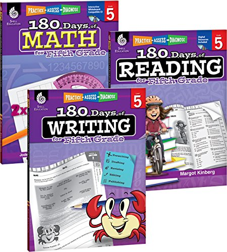 9781493825943: 180 Days of Reading, Writing and Math for Fifth Grade 3-Book Set (180 Days of Practice)