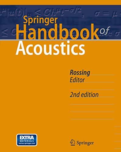 Springer Handbook of Acoustics (Hardcover): Rossing