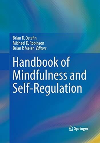 9781493942909: Handbook of Mindfulness and Self-Regulation