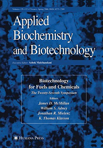 9781493956487: Twenty-Seventh Symposium on Biotechnology for Fuels and Chemicals (ABAB Symposium)