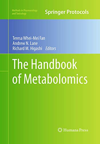 9781493960439: The Handbook of Metabolomics (Methods in Pharmacology and Toxicology)