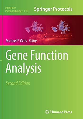9781493960637: Gene Function Analysis (Methods in Molecular Biology)