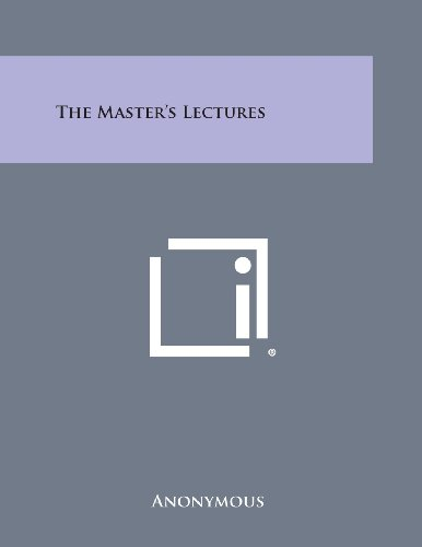 9781494005696: The Master's Lectures