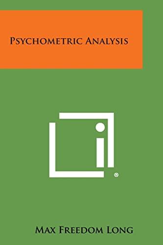 9781494011918: Psychometric Analysis