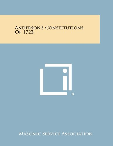 9781494013479: Anderson's Constitutions of 1723