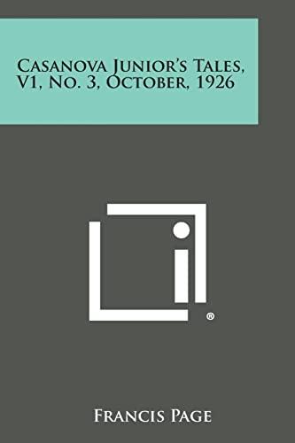 9781494019792: Casanova Junior's Tales, V1, No. 3, October, 1926