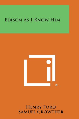 9781494019846: Edison as I Know Him