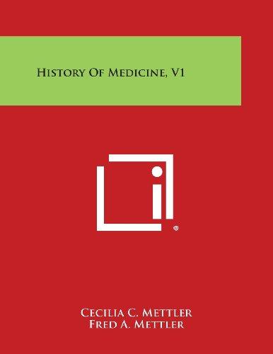 History of Medicine, V1 (Paperback): Cecilia C Mettler