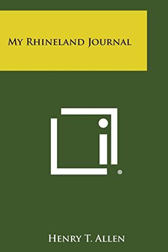 9781494122133: My Rhineland Journal