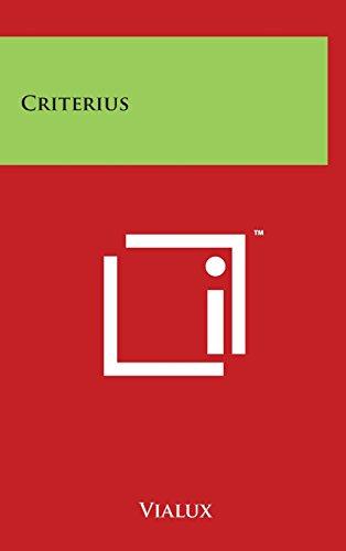 9781494128098: Criterius