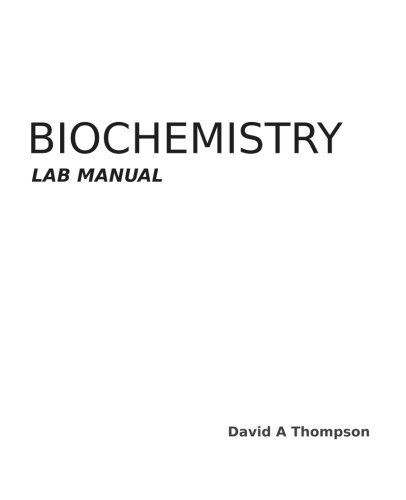 9781494346249: Biochemistry Lab Manual