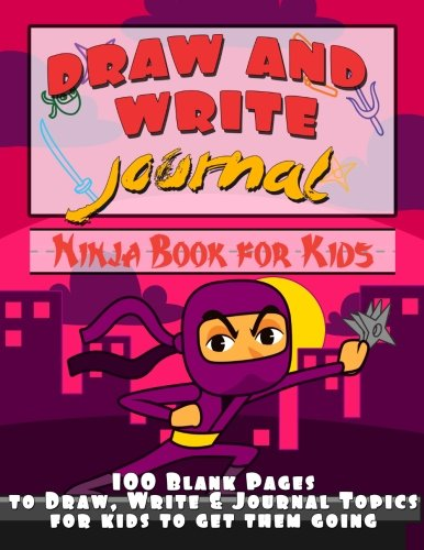 Draw and Write Journal: Ninja Book for Kids: Big Red Balloon