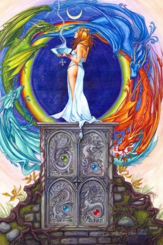 9781494379155: Summoning The Elemental Dragons Journal: This journal features a beautiful image by artist Jane Starr Weils on the cover. Pages are lined on one side ... with your thoughts, words, and sketches.: 5