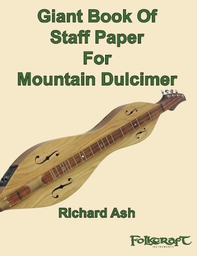 9781494401306: Giant Book Of Staff Paper For Mountain Dulcimer