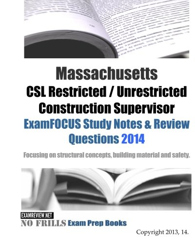 9781494900007: Massachusetts CSL Restricted / Unrestricted