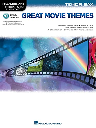 Great Movie Themes: for Tenor Sax Instrumental Play-Along (Hal Leonard Instrumental Play-Along)