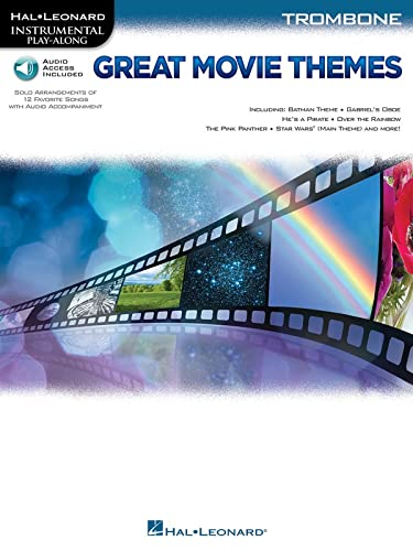 9781495005596: Great Movie Themes: For Trombone Instrumental Play-Along