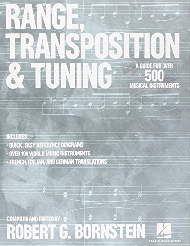 9781495022654: Range, Transposition & Tuning - A Guide for over 500 Musical Instruments