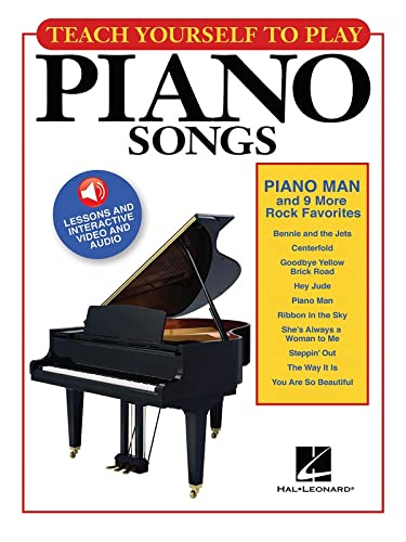 "9781495035869: Teach Yourself to Play Piano Songs: ""Piano Man"" & 9 More Rock Favorites"