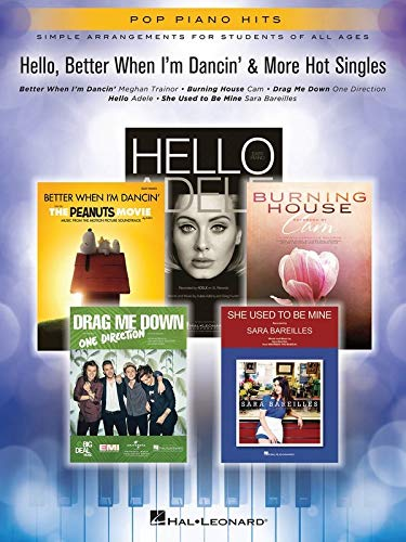 9781495058141: Pop Piano Hits Hello Better When I'm Dancin' & More Hot Singles Pf Bk