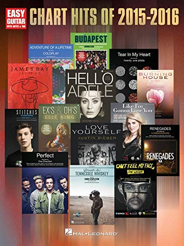 9781495058219: Chart Hits of 2015-2016: Easy Guitar with Notes & Tab