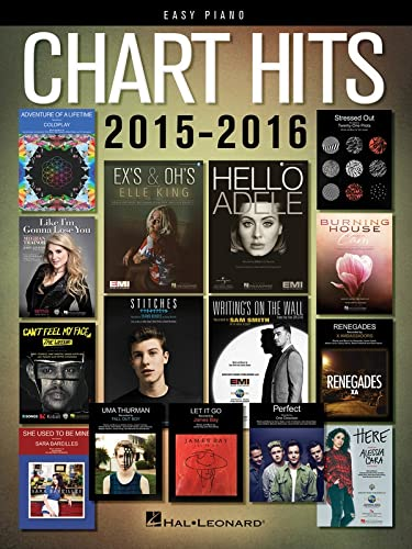 Chart Hits of 2015-2016 Easy Piano Songbook