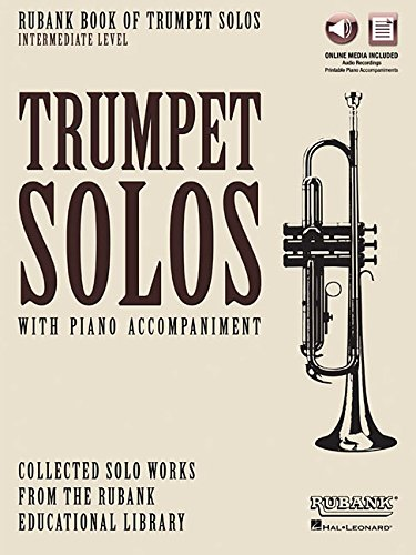 9781495065071: Rubank Book of Trumpet Solos - Intermediate Level: Book with Online Audio (stream or download)