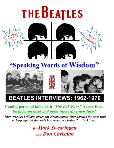 "The Beatles ""Speaking Words of Wisdom"": Swearingen, Mark; Christain, Don"