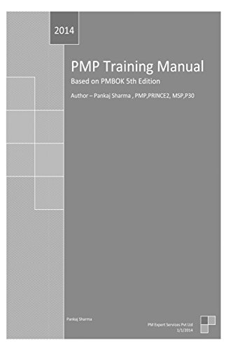 9781495241390: PMP Training Manual: Based on PMBOK 5th Edition
