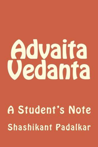 9781495244056: Advaita Vedanta: A Student's Note