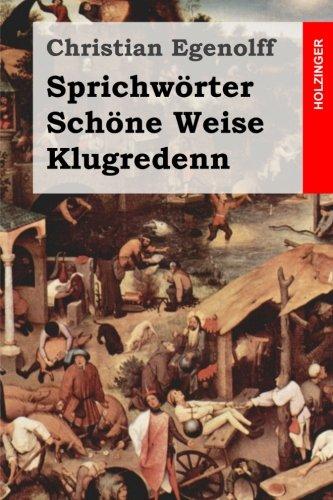 9781495329999: Sprichwörter Schöne Weise Klugredenn