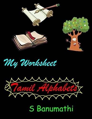 9781495492464: My Worksheet - Tamil Alphabets (Tamil Edition