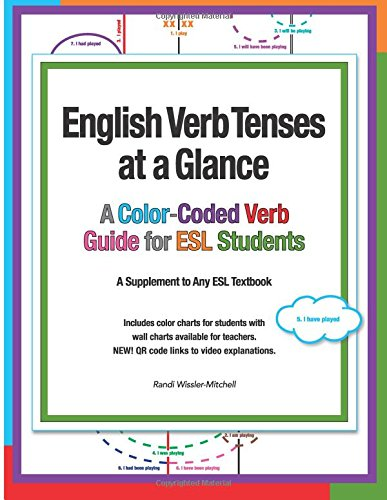 9781495946172: English Verb Tenses at a Glance: A Color-Coded Verb Guide for ESL Students