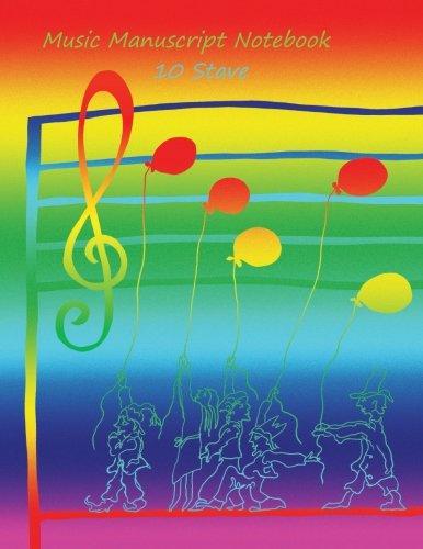 9781495955419: Music Manuscript Notebook: 10 Stave