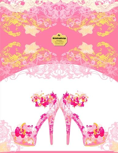 9781496003492: WriteDrawDesign Notebook, Wide Ruled, 8.5 x 11 Inches, Pink Stiletto Heels (She Collection)