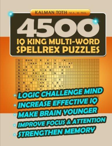 9781496056405: 4500 IQ King Multi-Word Spellrex Puzzles