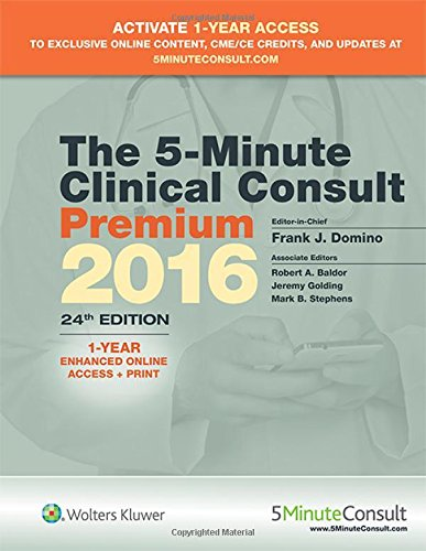 9781496308481 The 5 Minute Clinical Consult Premium 2016 1 Year