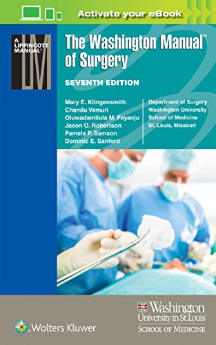 9781496310781: The Washington Manual of Surgery (Lippincott Manual Series (Formerly Known as the Spiral Manual Series))