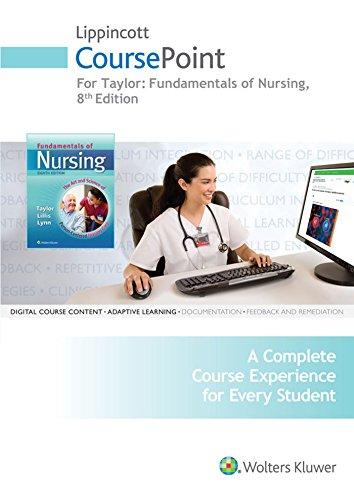 9781496338662: Taylor CoursePoint for Fundamentals 8e Plus LWW DocuCare Package