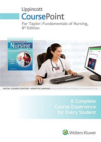 Taylor 8e CoursePoint & Text and 3e: Taylor, Carol R.