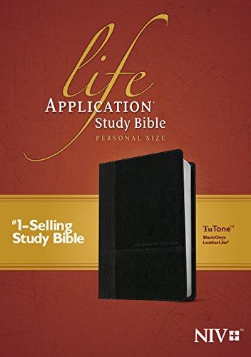 9781496412836: Life Application Study Bible: New International Version, Black / Onyx Leatherlike, Tutone, Personal Size