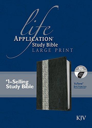 9781496417930: Life Application Study Bible KJV, Large Print, Tutone