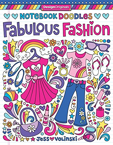 Notebook Doodles Fabulous Fashion Coloring Activity Book By Jess Volinski Design Originals