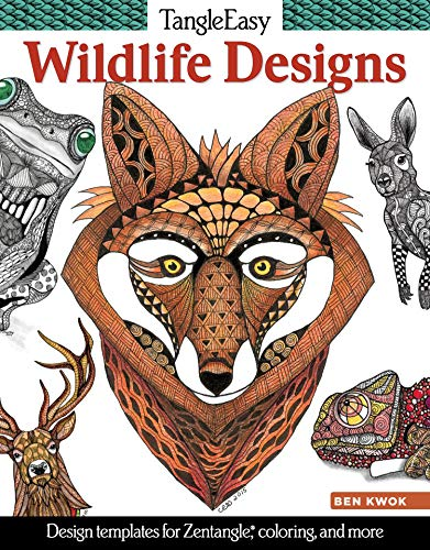 9781497200272: TangleEasy Wildlife Designs: Design Templates for Zentangle(r), Colorists, and More