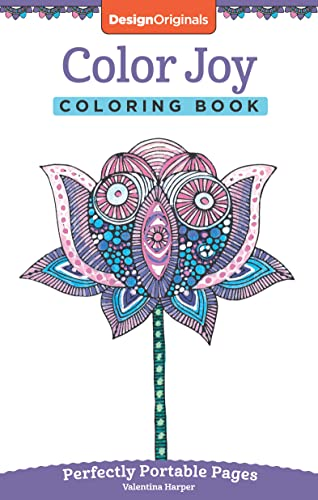 9781497200319: Color Joy Coloring Book: Perfectly Portable Pages (On-the-Go Coloring Book) (Design Originals) Extra-Thick High-Quality Perforated Paper; Convenient 5x8 Size is Perfect to Take Along Wherever You Go