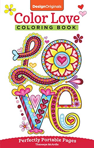 9781497200357: Color Love Coloring Book: Perfectly Portable Pages (On-The-Go! Coloring Book) (Design Originals)