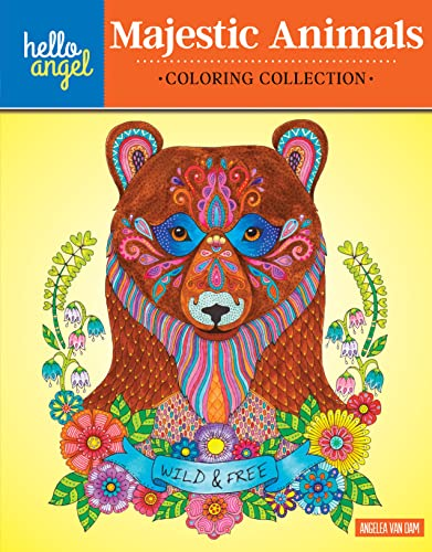 9781497201446: Hello Angel Majestic Animals Coloring Collection