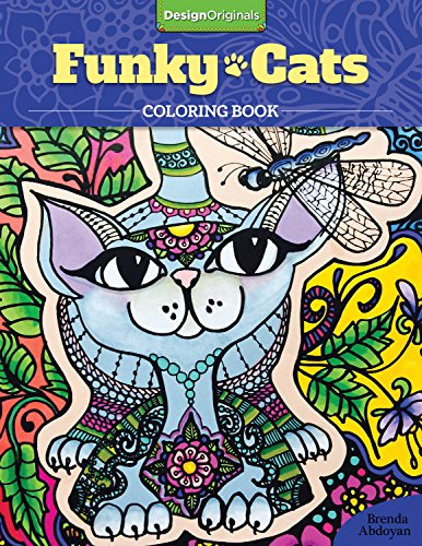 9781497201538: Funky Cats Coloring Book